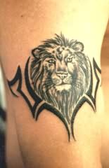 Nice small armband tiger tattoo for Small tiger tattoos