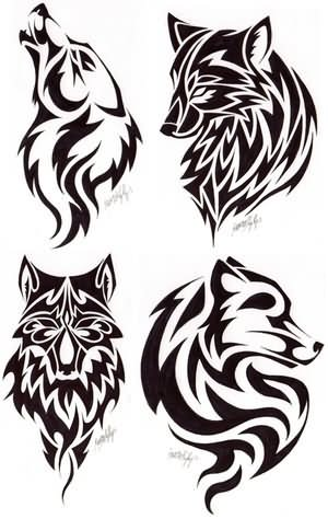 wolf tattoo designs on Wolf Head Tattoos Designs
