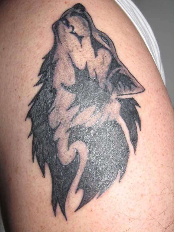 howling wolf tattoo head. Black Bedroom Furniture Sets. Home Design Ideas
