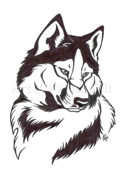 wolf tattoo design art. Black Bedroom Furniture Sets. Home Design Ideas