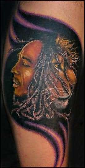 Bob marley lion tattoo for Bob marley tattoo