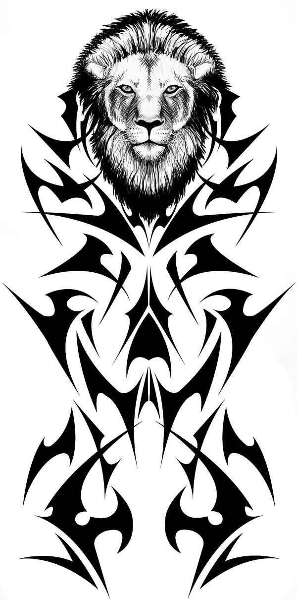 Free Tribal Lion Sample Tattoo