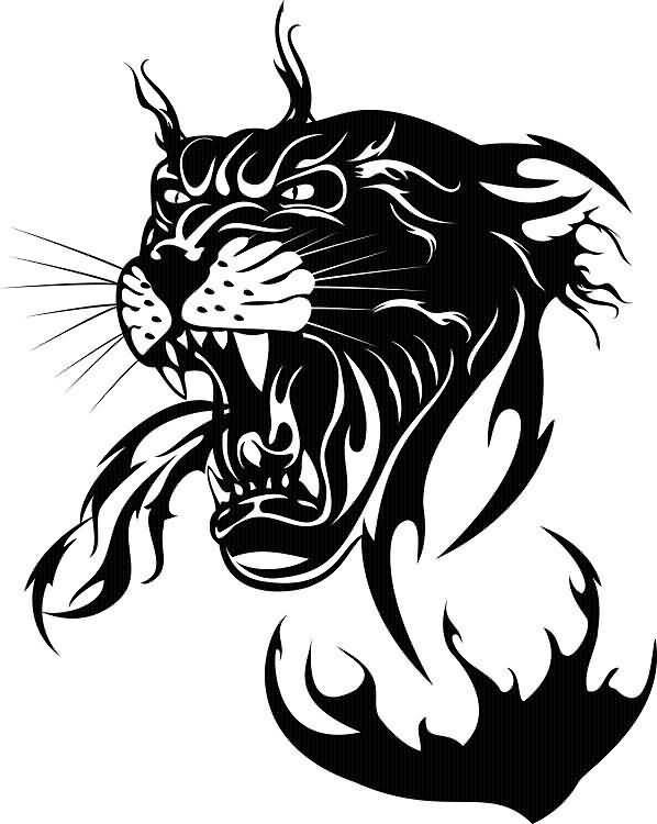 Tribal Lion Logo Tattoo