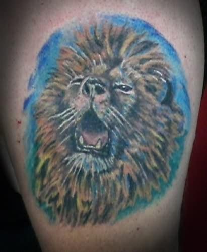 Roaring Lion Head Tattoo