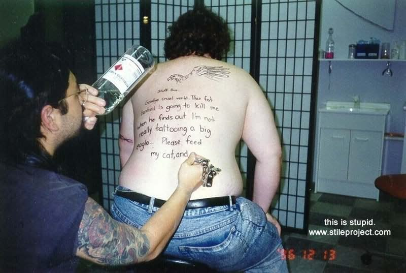 Funny Back Tattoo