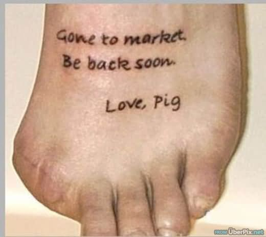Funny Tattoo Foot