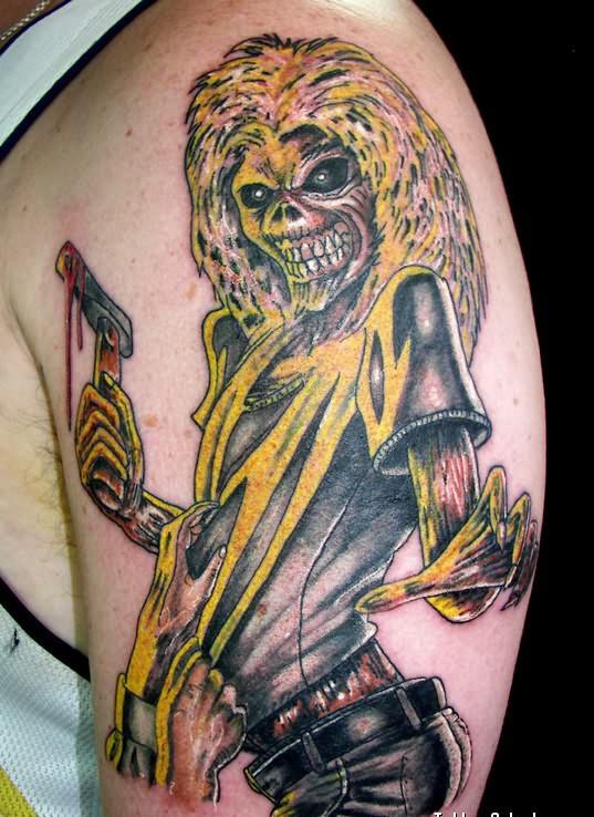 Ghost Band Girl Tattoo