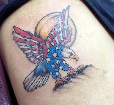 American Eagle Tattoo On Shoulder
