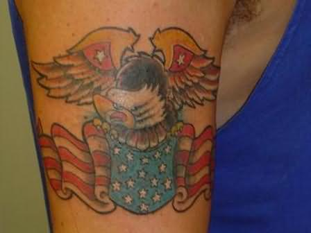 American Tattoo On Shoulder