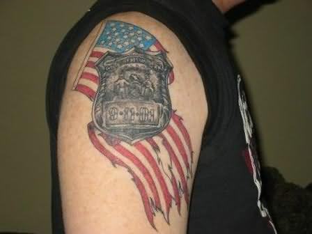 Best American Tattoo On Shoulder