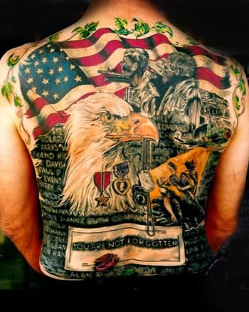 Big Country Tattoo On Back