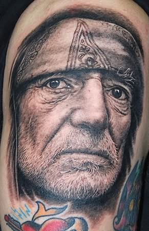 Country Singer Willie Nelson Portrait