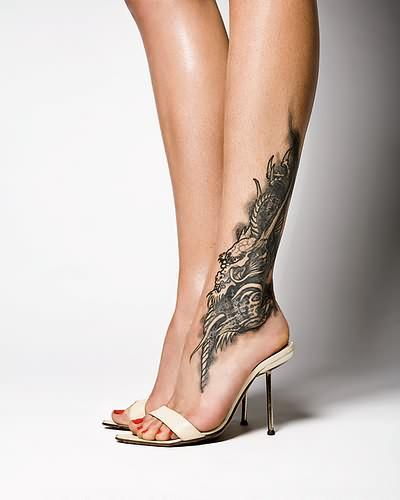 beautiful ankle tattoos designs. Black Bedroom Furniture Sets. Home Design Ideas