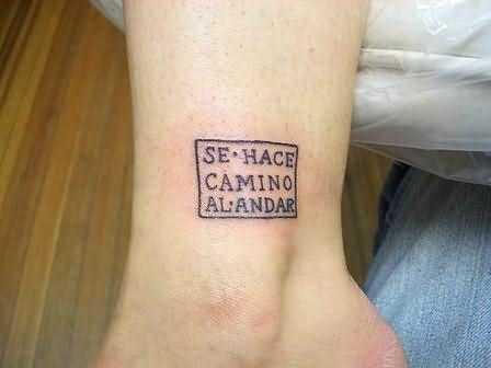 Tempting Word Tattoo On Ankle