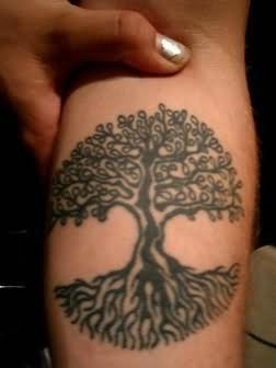 small tree tattoo on arm. Black Bedroom Furniture Sets. Home Design Ideas