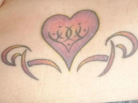 Simple Black Heart Tattoo
