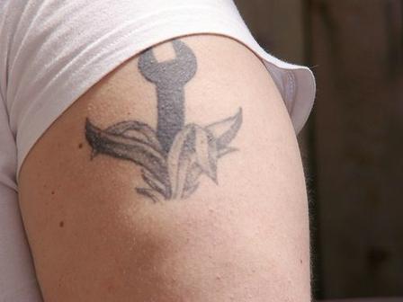 A Spanner - Biceps Tattoo