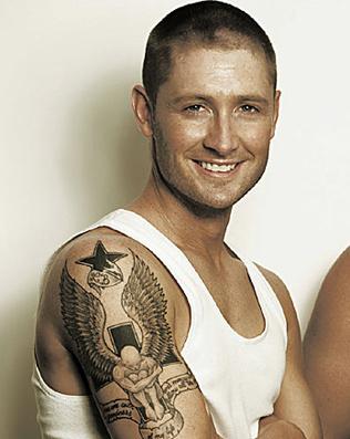 Michael Clarke Biceps Tattoo