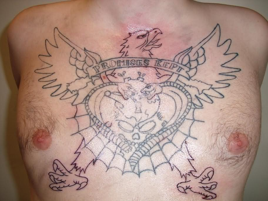 Eagle Chest Piece Tattoo