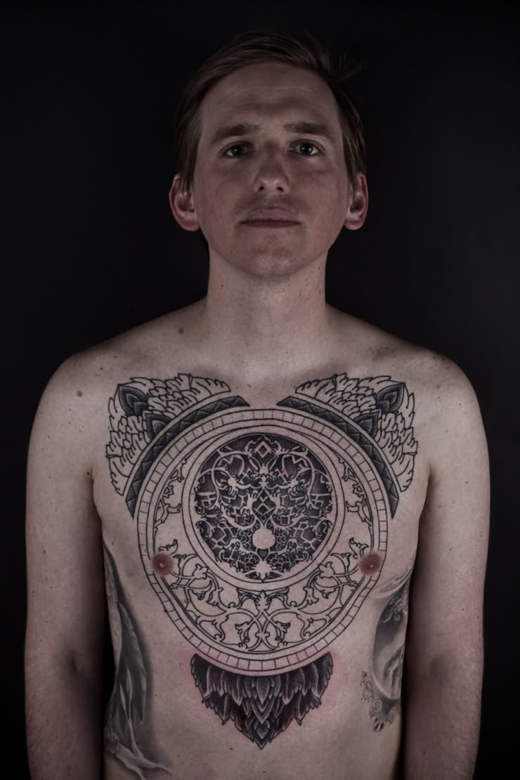 latest design chest tattoo. Black Bedroom Furniture Sets. Home Design Ideas