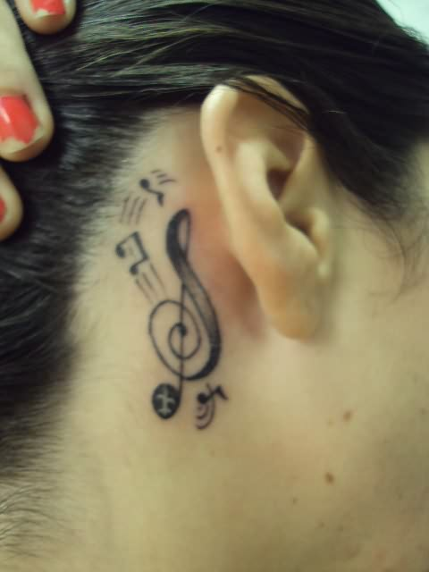 Images for tattoos behind the ear designs