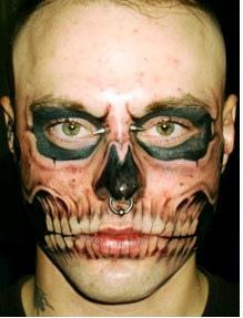 Skull Tattoo On Face