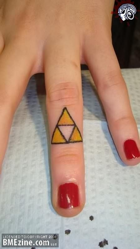 Triangle Tattoo On Finger