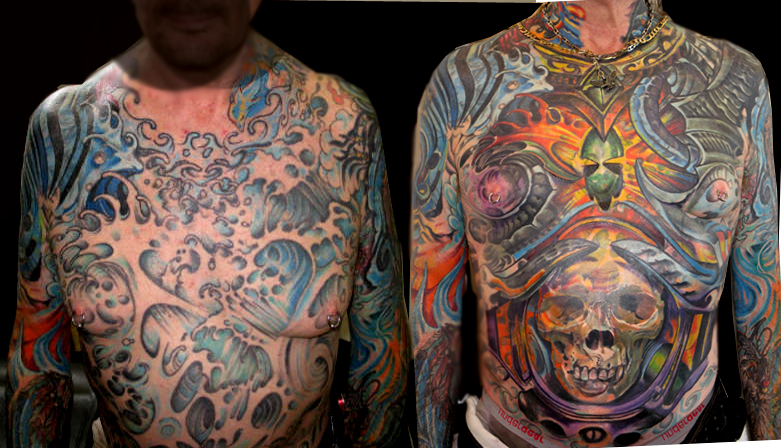 awesome colourful tattoo for full body