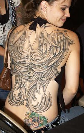 Full Body Angel Wings Tattoo