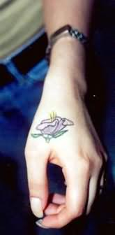 Pleasing to Eye Rose Tattoo On Hand