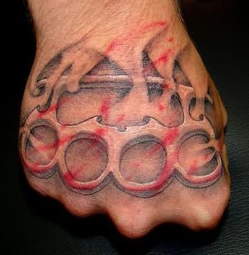 Punch Tattoo On Hand