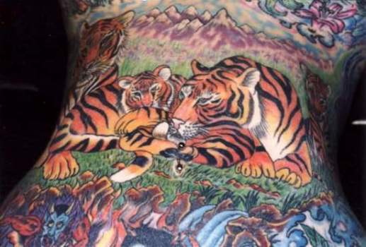 Tiger Full Body Tattoo