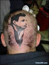 Man Tattoo On Back Head