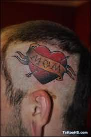 Memorial Tattoo On Head