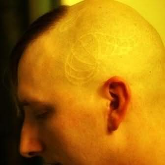 White Ink Tattoo On Head