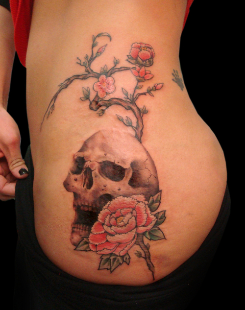 Women Skull Tattoos