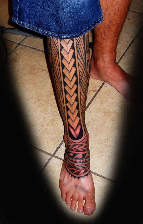 beautiful design tattoo on leg. Black Bedroom Furniture Sets. Home Design Ideas