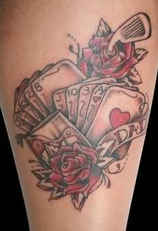 Rose Tatto on Gambling   Rose Tattoo On Leg