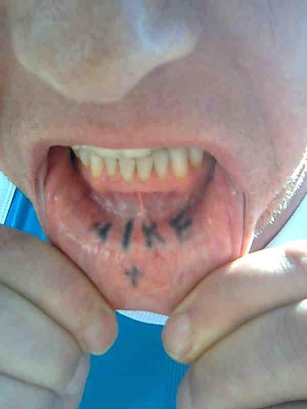 Like Tattoo Inside Lip