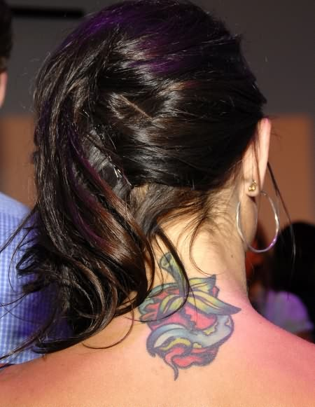 Fruit Tattoo On Neck