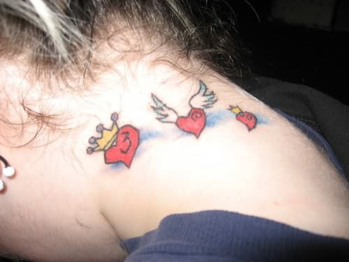 Little Hearts On Neck