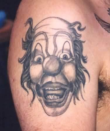 clown joker tattoo on shoulder. Black Bedroom Furniture Sets. Home Design Ideas