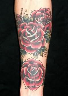 ... com img src http www tattoostime com images 98 rose sleeve tattoo  Rose Tattoos For Men Sleeve
