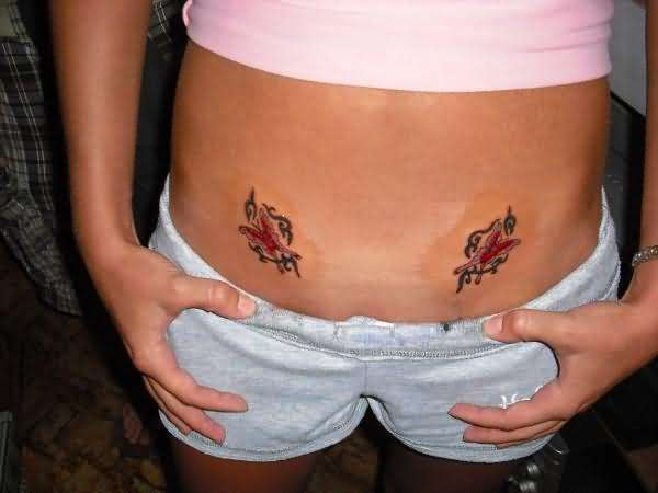 Younger Girls Tattoos on the Stomach