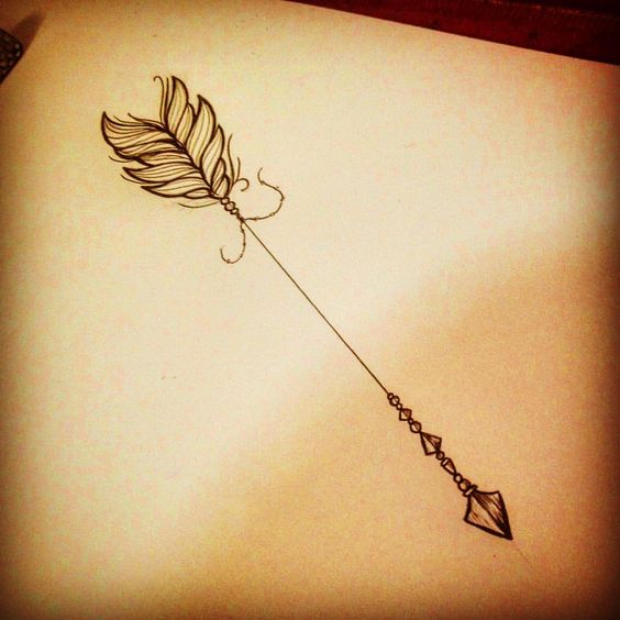 Amazing Arrow Tattoo Design For female
