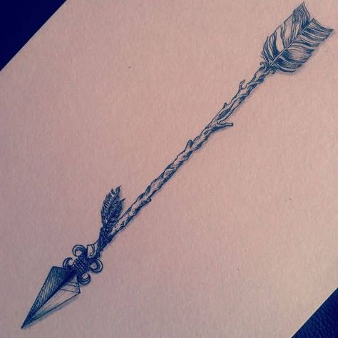 Feather Arrow Tattoo Design