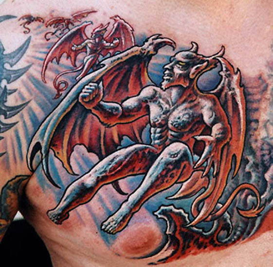 Depression Is Hell Tattoo Submit Your Tattoo: Gargoyle Tattoo Images & Designs