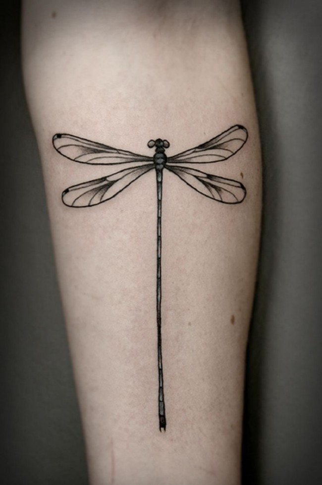 d25a08d79 Beautiful Dragonfly Tattoo On Forearm