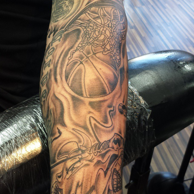 Basketball Chest Tattoos: Basketball Tattoo Images & Designs