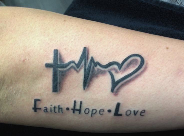 Faith Hope Love Tattoo By Madlen